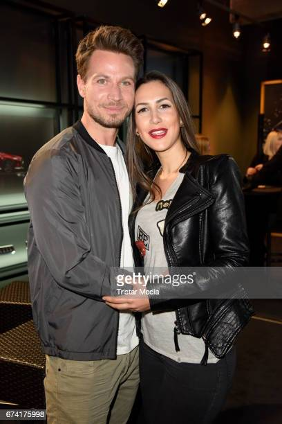 Sebastian Pannek and his girlfriend CleaLacy Juhn attend the spring cocktail hosted by Mazda and InTouch magazine at Mazda Pop UpStore on April 27...