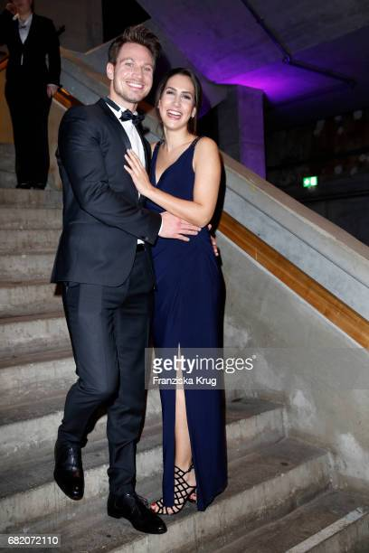 Sebastian Pannek and his girlfriend CleaLacy Juhn during the Duftstars at Kraftwerk Mitte on May 11 2017 in Berlin Germany