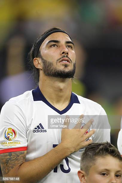 Sebastian Perez of Colombia looks on before a group A match between Colombia and Costa Rica at NRG Stadium as part of Copa America Centenario US 2016...