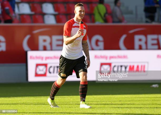 Sebastian Polter of 1FC Union Berlin after the game between Jahn Regensburg and Union Berlin on october 15 2017 in Regensburg Germany a