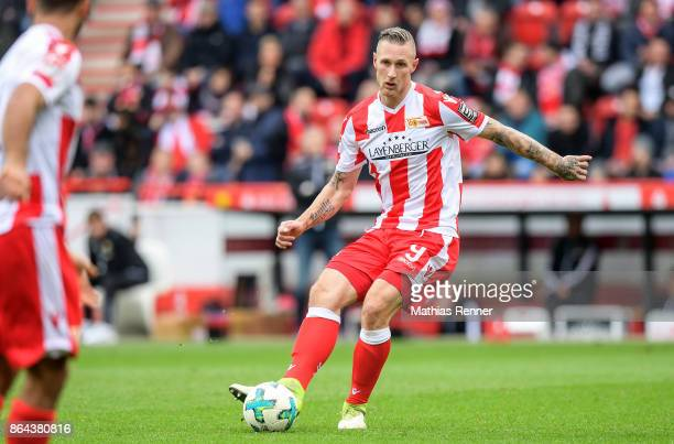Sebastian Polter of 1FC Union Berlin during the game between Union Berlin and the SpVgg Greuther Fuerth on October 21 2017 in Berlin Germany