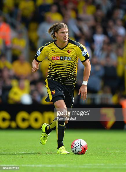 Sebastian Prodl of Watford during the Barclays Premier League match between Watford and West Bromwich Albion at Vicarage Road on August 15 2015 in...