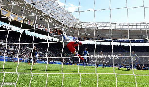 Sebastian Rode of Muenchen scores his team's opening goal during the Bundesliga match between 1899 Hoffenheim and FC Bayern Muenchen at Wirsol...