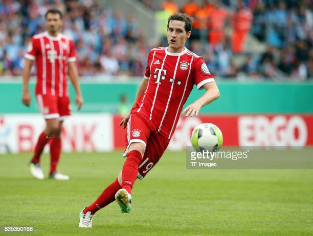 Sebastian Rudy of Bayern Muenchen controls the ball during the DFB Cup first round match between Chemnitzer FC and FC Bayern Muenchen at...