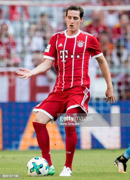 Sebastian Rudy of FC Bayern Muenchen runs with the ball during the Audi Cup 2017 match between SSC Napoli and FC Bayern Muenchen at Allianz Arena on...