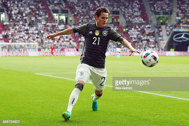 Sebastian Rudy of Germany controles the ball during the international friendly match between Germany and Slovakia at WWKArena on May 29 2016 in...