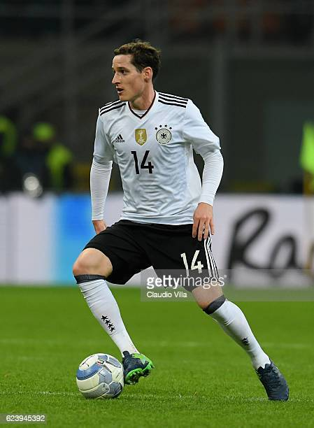 Sebastian Rudy of Germany in action during the International Friendly Match between Italy and Germany at Giuseppe Meazza Stadium on November 15 2016...