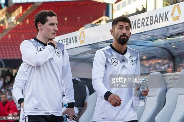 Sebastian Rudy of Germany Kerem Demirbay of Germany during the FIFA 2018 World Cup Qualifier between Germany and San Marino at Stadion Nuernberg on...