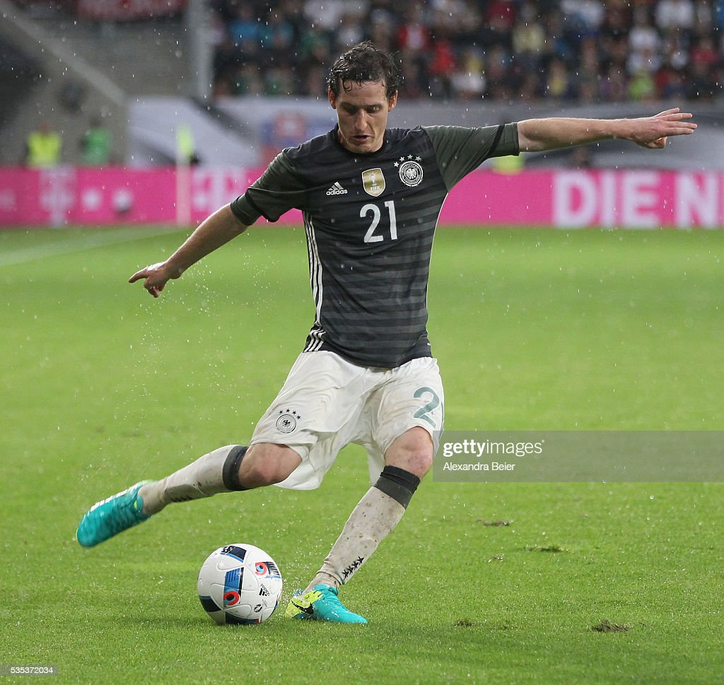 <a gi-track='captionPersonalityLinkClicked' href=/galleries/search?phrase=Sebastian+Rudy&family=editorial&specificpeople=4410074 ng-click='$event.stopPropagation()'>Sebastian Rudy</a> of Germany kicks the ball during the international friendly football match between Germany and Slovakia at WWK-Arena on May 29, 2016 in Augsburg, Germany.