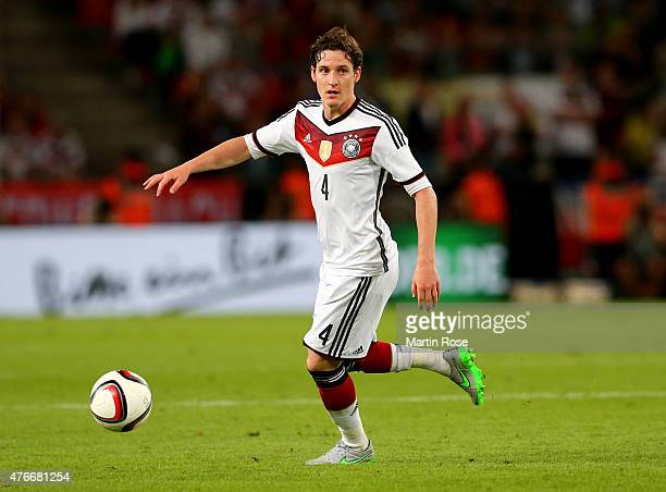 Sebastian Rudy of Germany runs with the ball during the International Friendly match between Germany and USA at RheinEnergieStadion on June 10 2015...