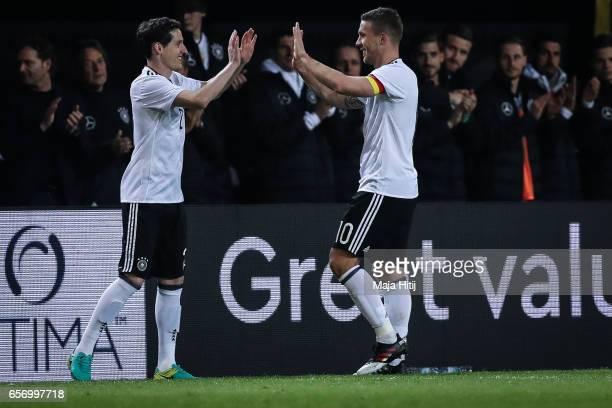 Sebastian Rudy of Germany substitues Lukas Podolski of Germany during the international friendly match between Germany and England at Signal Iduna...