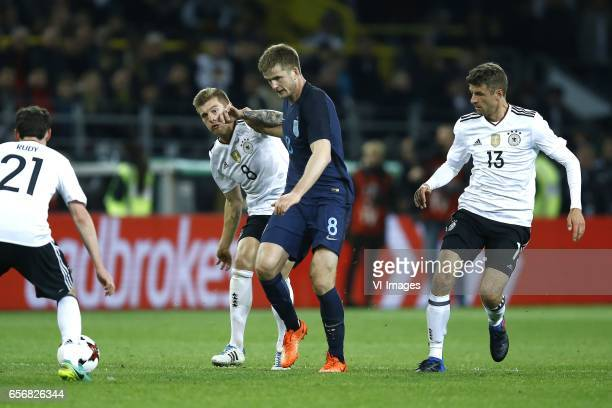 Sebastian Rudy of Germany Toni Kroos of Germany Eric Dier of England Thomas Muller of Germanyduring the friendly match between Germany and England on...