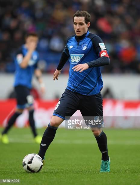 Sebastian Rudy of Hoffenheim controls the ball during the Bundesliga match between TSG 1899 Hoffenheim and Bayer 04 Leverkusen at Wirsol...