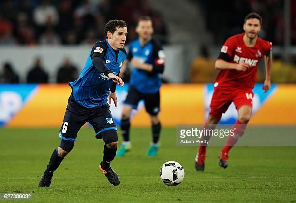 Sebastian Rudy of TSG 1899 Hoffenheim in action during the Bundesliga match between TSG 1899 Hoffenheim and 1 FC Koeln at Wirsol RheinNeckarArena on...