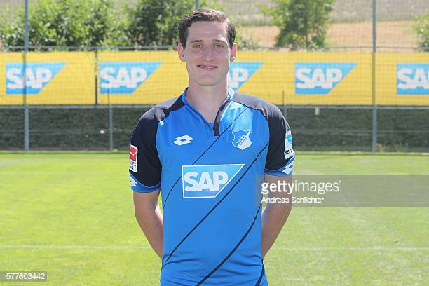 Sebastian Rudy poses during the offical team presentation of TSG 1899 Hoffenheim on July 19 2016 in Sinsheim Germany