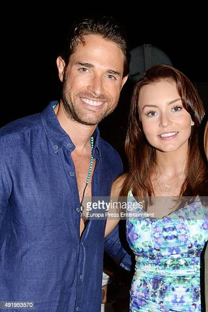 Sebastian Rulli and Angelique Boyer attend the 1st anniversary of his restaurant '1111 Restobar' on September 11 2015 in Estepona Spain