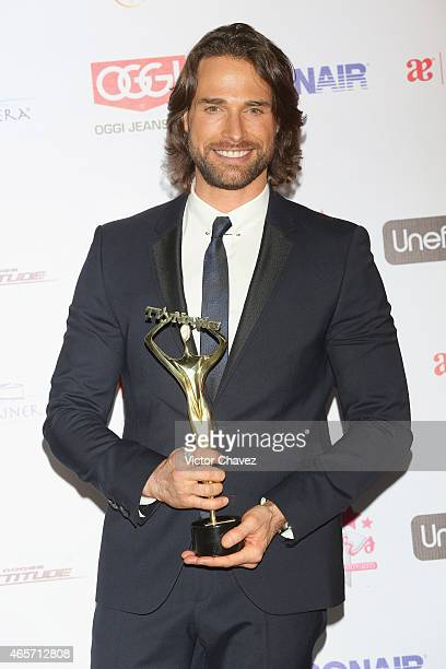 Sebastian Rulli attends Premios TV y Novelas 2015 at Televisa San Angel on March 9 2015 in Mexico City Mexico