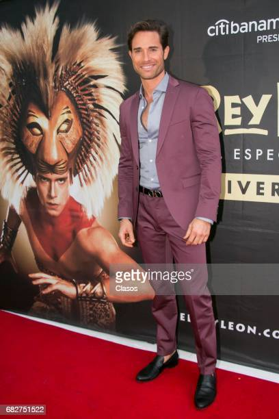 Sebastian Rulli attends the unveiling of the plaque for two years of representations of The Lion King at Teatro Telcel on May 11 2017 in Mexico City...