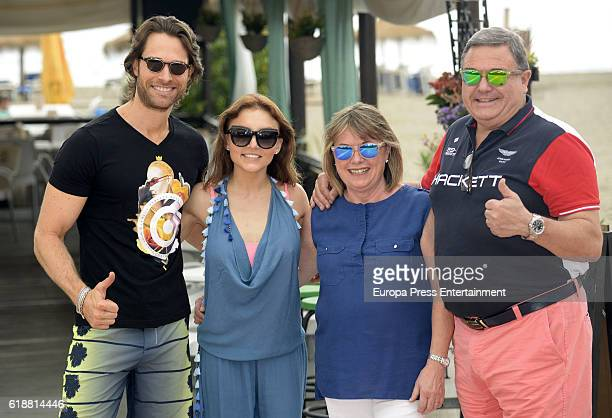 Sebastian Rulli his parents and Angelique Boyer are seen on October 5 2016 in Marbella Spain