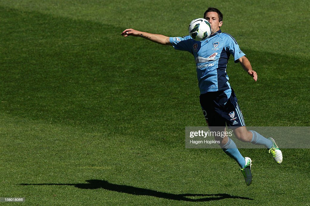 Sebastian Ryall of Sydney FC controls the ball during the round 10 A-League match between Wellington Phoenix and Sydney FC at Westpac Stadium on December 9, 2012 in Wellington, New Zealand.