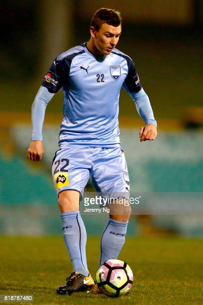 Sebastian Ryall of Sydney FC dribbles the ball during the 2017 Johnny Warren Challenge match between Sydney FC and Earlwood Wanderers at Leichhardt...