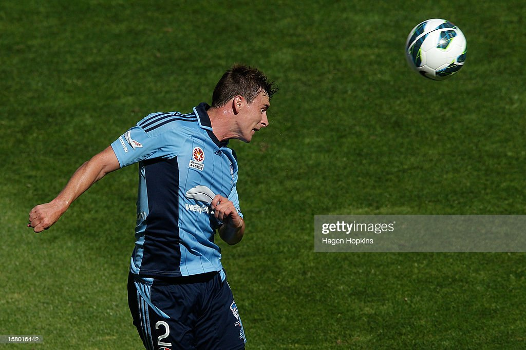 Sebastian Ryall of Sydney FC heads the ball during the round 10 A-League match between Wellington Phoenix and Sydney FC at Westpac Stadium on December 9, 2012 in Wellington, New Zealand.