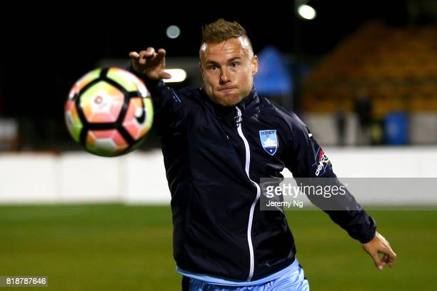 Sebastian Ryall of Sydney FC prepares to kick the ball during the 2017 Johnny Warren Challenge match between Sydney FC and Earlwood Wanderers at...