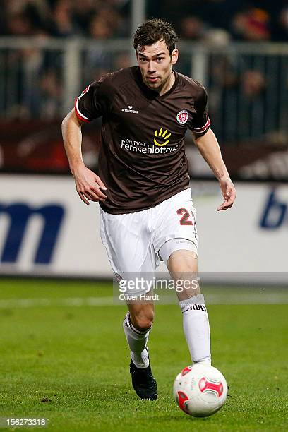 Sebastian Schachten of Pauli during the 2 Bundesliga match between FC St Pauli and VfL Bochum at Millerntor Stadium on November 12 2012 in Hamburg...