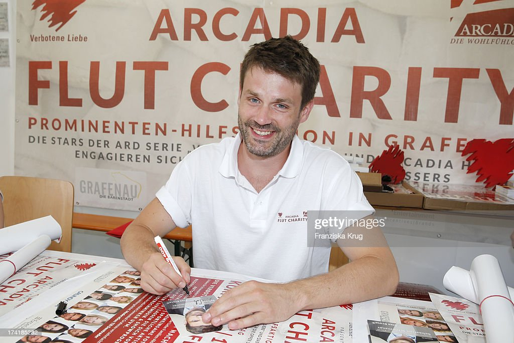Sebastian Schlemmer attends the Charity Event Benefitting Flood Victims on July 20, 2013 in Grafenau, Germany.