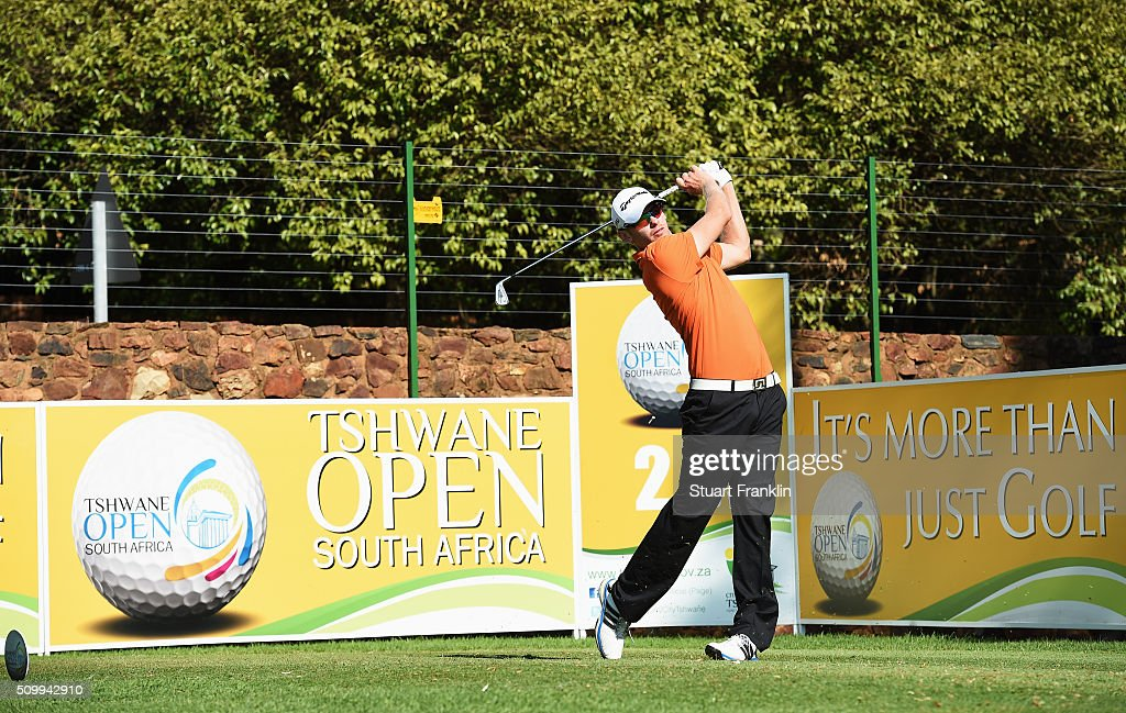 Sebastian Soderberg of Sweden plays a shot during the third round of the Tshwane Open at Pretoria Country Club on February 13, 2016 in Pretoria, South Africa.