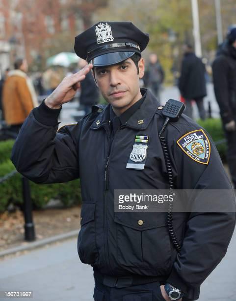 Sebastian Sozzi filming on location for 'Blue Bloods' on November 19 2012 in New York City