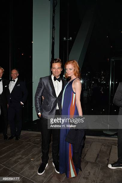 Sebastian Stan and Jessica Joffe attend the 2014 CFDA Fashion Awards at Alice Tully Hall Lincoln Center on June 2 2014 in New York City