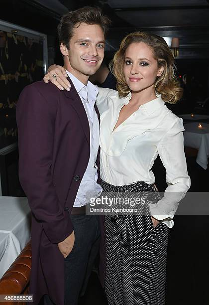 Sebastian Stan and Margarita Levieva attend the after party for the premiere of 'Clouds Of Sils Maria' hosted by Sundance Selects with W Magazine...