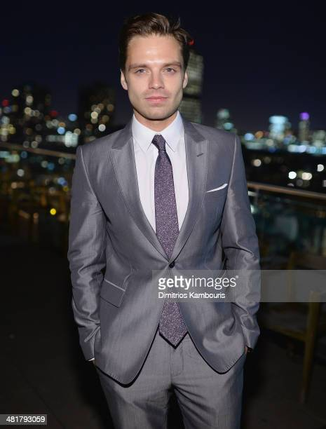 Sebastian Stan attends The Cinema Society Gucci Guilty screening of Marvel's 'Captain America The Winter Soldier after party at The Jimmy at the...