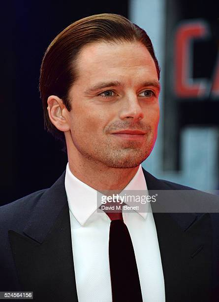 Sebastian Stan attends the European Premiere of 'Captain America Civil War' at Vue Westfield on April 26 2016 in London England
