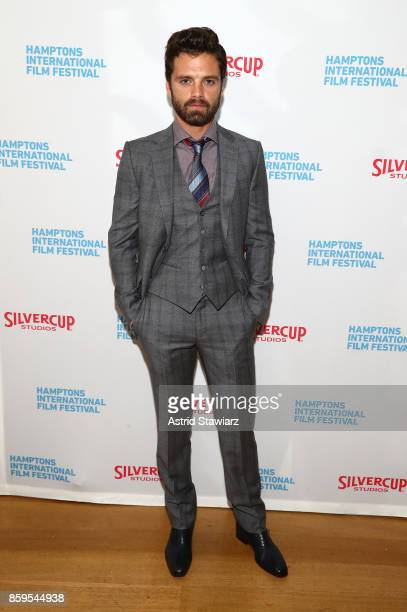 Sebastian Stan attends the red carpet for ' I Tonya' at Guild Hall during Hamptons International Film Festival 2017 Day Four on October 8 2017 in...