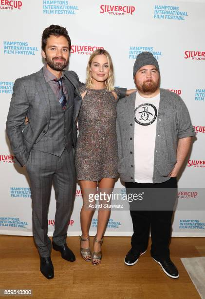 Sebastian Stan Margot Robbie and Paul Walter Hauser attend the red carpet for ' I Tonya' at Guild Hall during Hamptons International Film Festival...