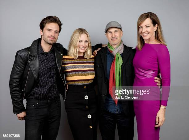 Sebastian Stan Margot Robbie Craig Gillespe and Allison Janney from the film 'I Tonya' poses for a portrait at the 2017 Toronto International Film...