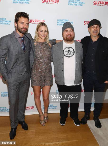 Sebastian Stan Margot Robbie Paul Walter Hauser and Craig Gillespie attend the red carpet for ' I Tonya' at Guild Hall during Hamptons International...