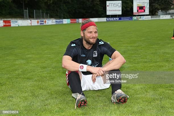 Sebastian Stroebel in soccer jersey during the charity football game 'Kick for Kids' to benefit 'Die Seilschaft zusammen sind wir stark eV' at the...