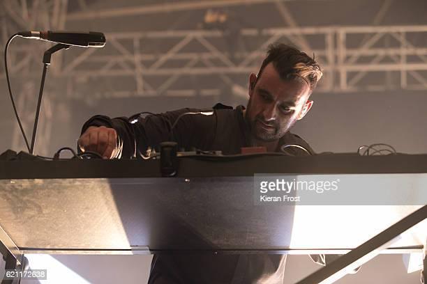 Sebastian Szary of Moderat performs at Metropolis Festival at the RDS Concert Hall on November 4 2016 in Dublin Ireland