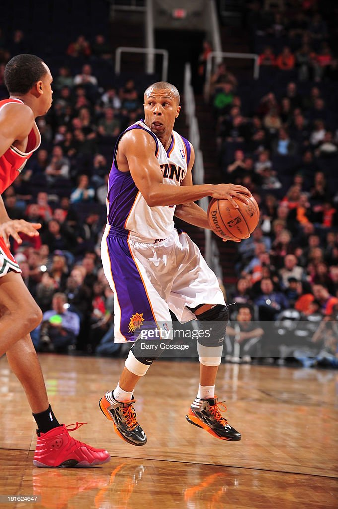 <a gi-track='captionPersonalityLinkClicked' href=/galleries/search?phrase=Sebastian+Telfair&family=editorial&specificpeople=202087 ng-click='$event.stopPropagation()'>Sebastian Telfair</a> #31 of the Phoenix Suns looks to pass the ball against the Milwaukee Bucks on January 17, 2013 at U.S. Airways Center in Phoenix, Arizona.