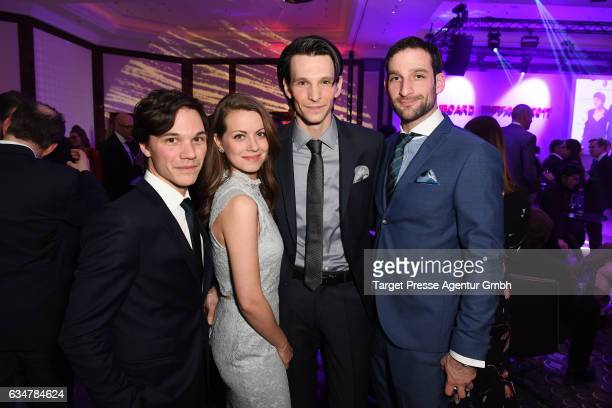 Sebastian Urzendowsky Alice Dwyer Sabin Tambrea and guest attend the Medienboard BerlinBrandenburg Reception during the 67th Berlinale International...