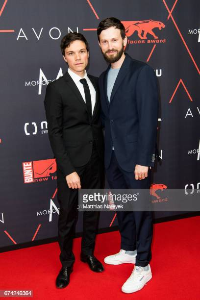 Sebastian Urzendowsky and Franz Dinda attend the New Faces Award Film at Haus Ungarn on April 27 2017 in Berlin Germany