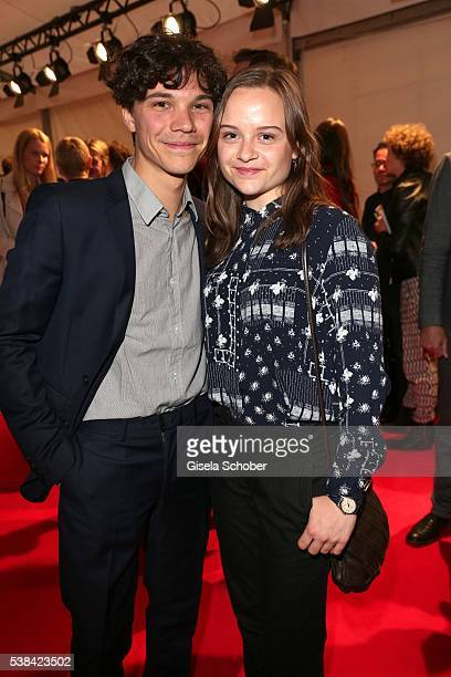 Sebastian Urzendowsky and his sister Lena Urzendowsky during the New Faces Award Film 2016 at ewerk on May 26 2016 in Berlin Germany