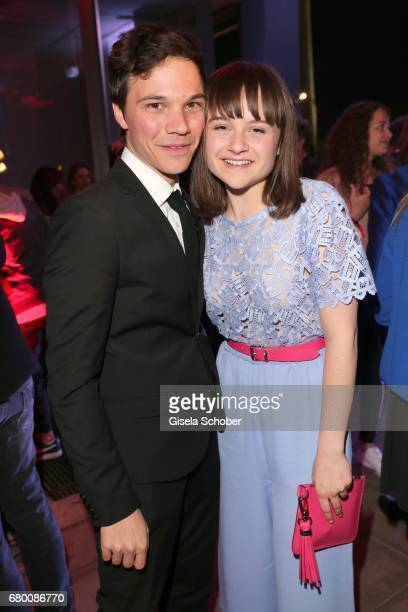 Sebastian Urzendowsky and his sister Lena Urzendowsky during the New Faces Award Film at Haus Ungarn on April 27 2017 in Berlin Germany