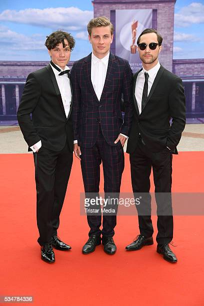 Sebastian Urzendowsky Jannik Schuemann and Ludwig Trepte attend the Lola German Film Award 2016 Red Carpet Arrivals on May 27 2016 in Berlin Germany