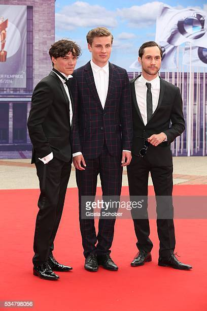 Sebastian Urzendowsky Jannik Schuemann and Ludwig Trepte attend the Lola German Film Award 2016 on May 27 2016 in Berlin Germany