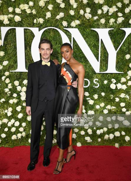 Sebastian Vallentin Stenhoj and Condola Rashad attend the 2017 Tony Awards at Radio City Music Hall on June 11 2017 in New York City