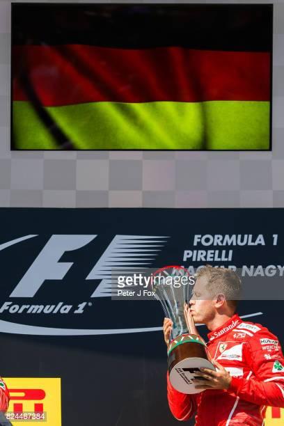 Sebastian Vettel of Ferrari and Germany during the Formula One Grand Prix of Hungary at Hungaroring on July 30 2017 in Budapest Hungary